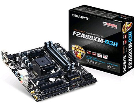 GIGABYTE F2A88XM D3H AMD Compatible Motherboard for Desktop Computer/PC