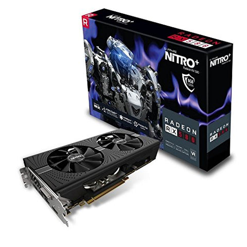 SAPPHIRE Radeon RX580 8GB Nitro+ OC Graphics Card for Gaming PC