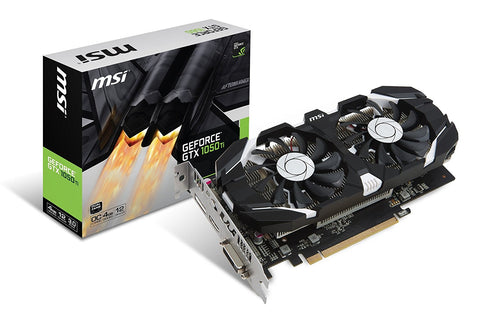 MSI GeForce GTX 1050TI 4GB OC DUAL FAN Graphics Card for Gaming PC