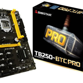 BIOSTAR TB250-BTC PRO Intel Compatible Motherboard for Desktop Computer/PC
