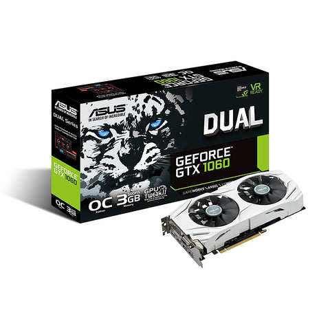 ASUS Geforce GTX1060 3GB DDR5 DUAL FAN OC Graphics Card for Gaming PC