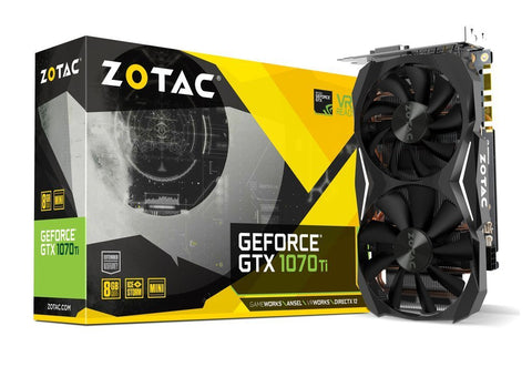 ZOTAC GeForce GTX 1070Ti 8GB DDR5 Graphics Card for Gaming PC