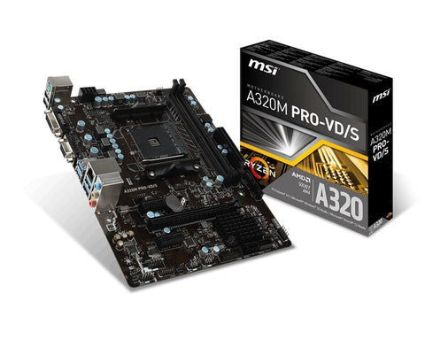 MSI A320M PRO-VD/S Compatible Motherboard for Desktop Computer/PC