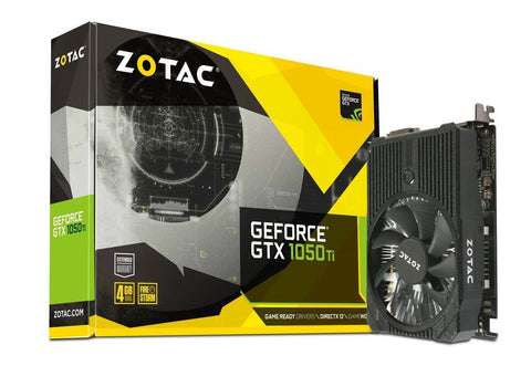 ZOTAC GeForce GTX 1050Ti 4GB DDR5 Graphics Card for Gaming PC