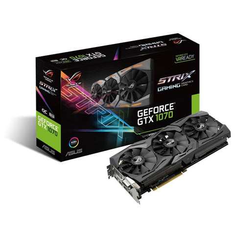 ASUS GeForce GTX 1070 8GB ROG STRIX OC Graphics Card for Gaming PC