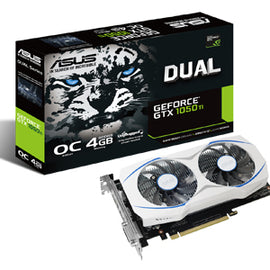 ASUS Geforce GTX1050Ti 4GB OC DUAL FAN Graphics Card for Gaming PC
