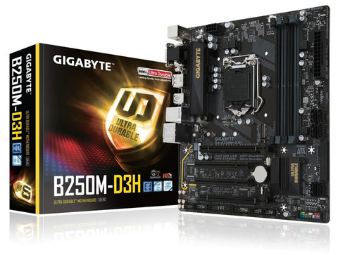 GIGABYTE B250M-D3H Intel Compatible Motherboard for Desktop Computer/PC