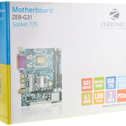ZEBRONICS G31 (775) Intel Compatible Motherboard for Desktop Computer/PC