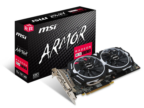 MSI RX 580 ARMOR 8GB OC Graphics Card for Gaming PC