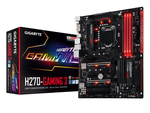 GIGABYTE H270 GAMING 3 Intel Compatible Motherboard for Desktop Computer/PC