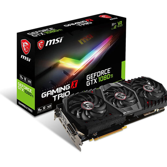 MSI GEFORCE GTX1080Ti GAMINGX TRIO 11GB DDR5 Graphics Card for Gaming PC