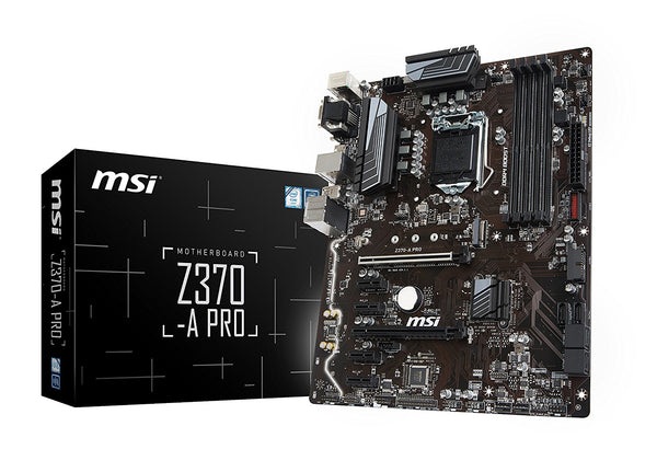 MSI Z370-A PRO Intel Compatible Motherboard for Desktop Computer/PC