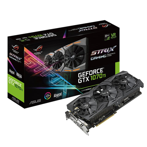 ASUS ROG Strix GeForce GTX 1070 Ti 8GB DDR5 Graphics Card for Gaming PC