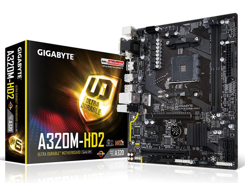 GIGABYTE A320M-HD2 AMD Compatible Motherboard for Desktop Computer/PC