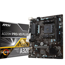 MSI A320M PRO-VD PLUS Compatible Motherboard for Desktop Computer/PC