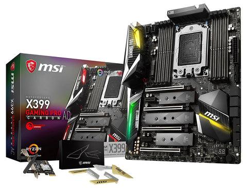 MSI X399 GAMING PRO CARBON AC AMD Compatible Motherboard for Desktop Computer/PC
