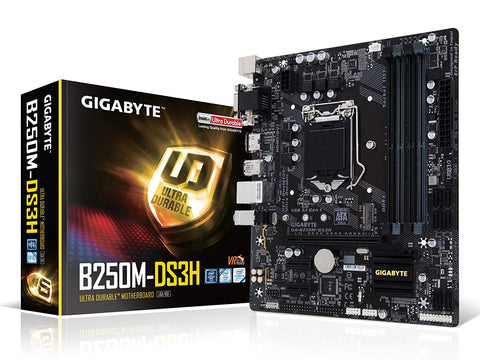 GIGABYTE B250M-DS3H Intel Compatible Motherboard for Desktop Computer/PC