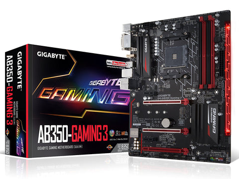GIGABYTE AB350-GAMING 3 AMD Compatible Motherboard for Desktop Computer/PC
