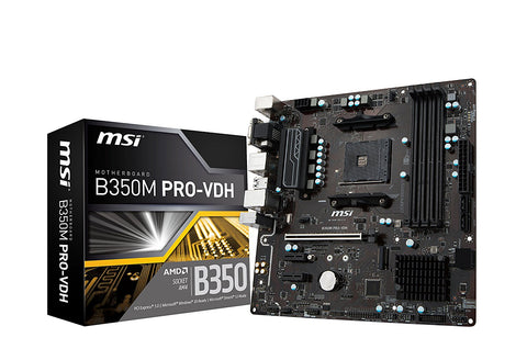 MSI B350M PRO VDH AMD Compatible Motherboard for Desktop Computer/PC