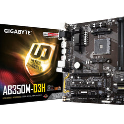 GIGABYTE AB350M-D3H AMD Compatible Motherboard for Desktop Computer/PC