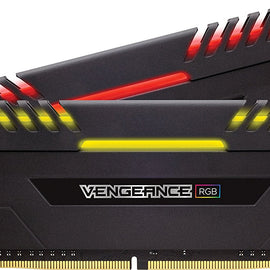 CORSAIR 16GB (2X8) DDR4 RGB (3200MHz) RAM for Desktop Computer/PC
