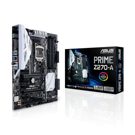 ASUS PRIME Z270- A (AURA) Intel Compatible Motherboard for Desktop Computer/PC