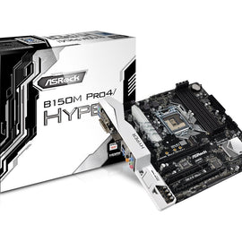 ASROCK B150M PRO4 (HYPER) Intel Compatible Motherboard for Desktop Computer/PC