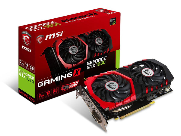 MSI GEFORCE GTX1050 2GB GAMING X Graphics Card for Gaming PC