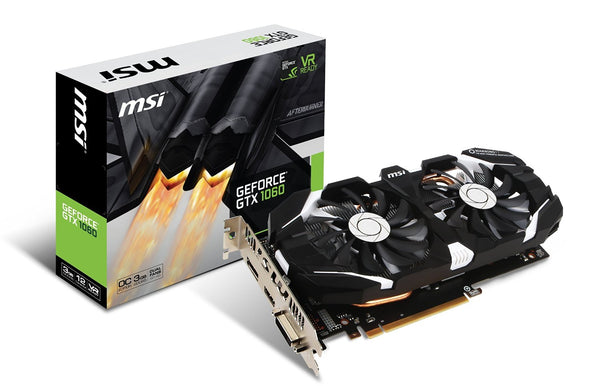MSI Geforce GTX1060 3GB DDR5 DUAL FAN OC Graphics Card for Gaming PC