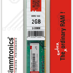 SIMMTRONICS 2GB DDR3 (1600MHZ) RAM for Desktop Computer/PC