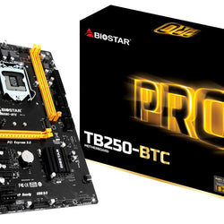 BIOSTAR TB250-BTC Intel Compatible Motherboard for Desktop Computer/PC