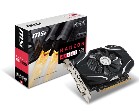 MSI RADEON RX 460 4GB OC DDR5 Graphics Card for Gaming PC
