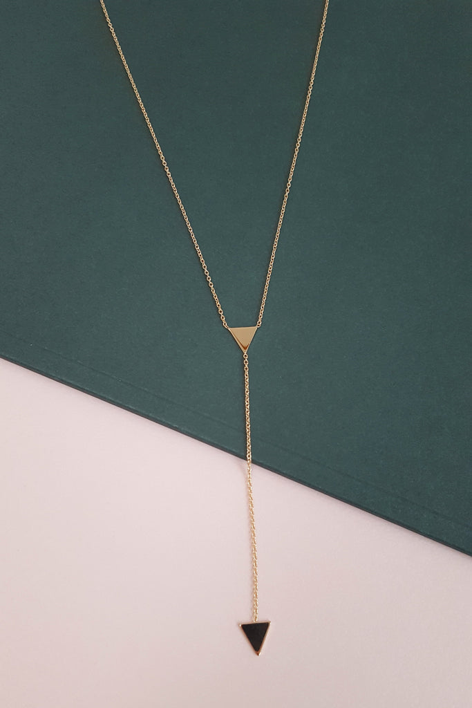 Triangle Pendel Necklace - Gold