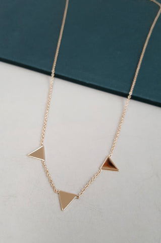 3 Flag Necklace - Gold
