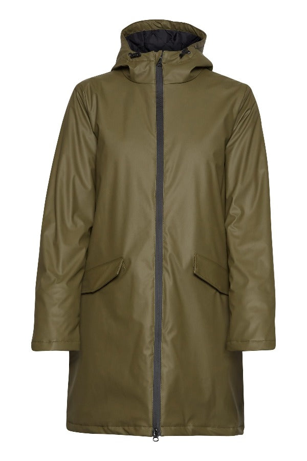 Ava 20808451 Coat Olive Night
