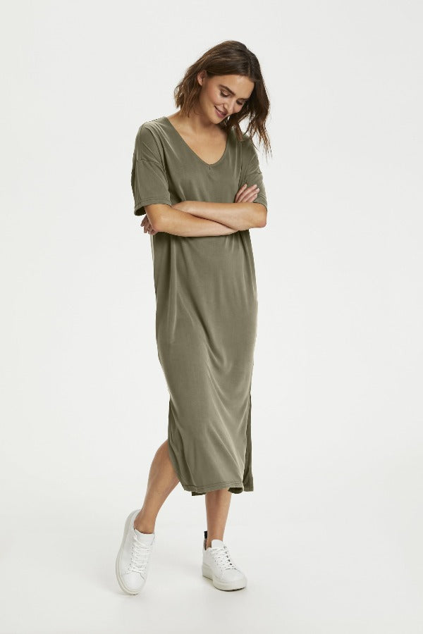 Abbie 30510287 Dress Army Green