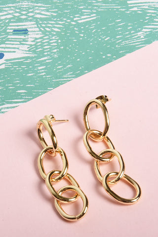 5642 Earrings Gold