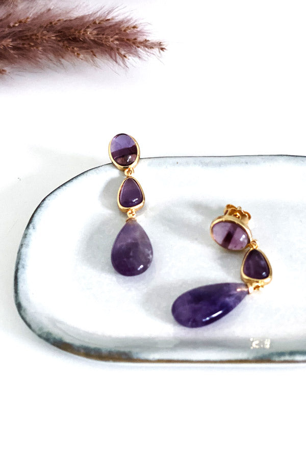 PO Earrings Purple