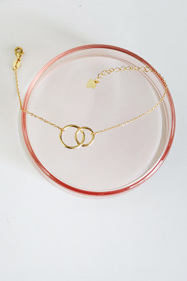 Two-ring Small Bracelet Gold