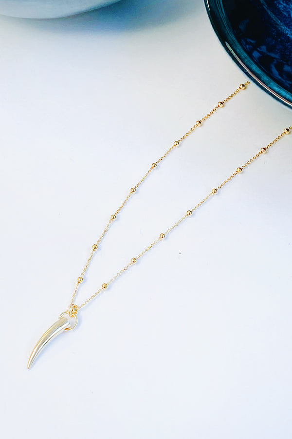 Tiger Tooth Necklace Gold