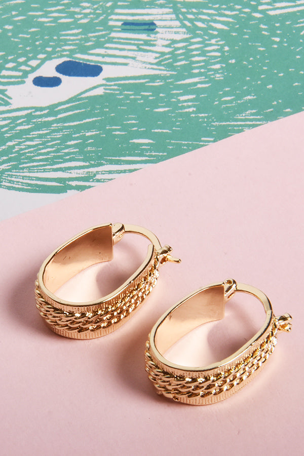 6210 Earrings Gold