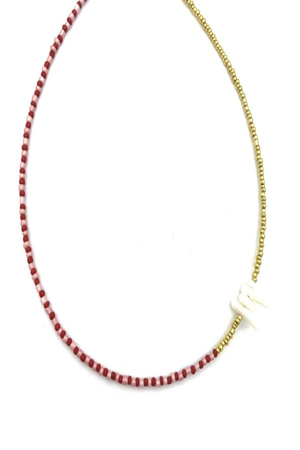 Pink Red Choker Coral Necklace