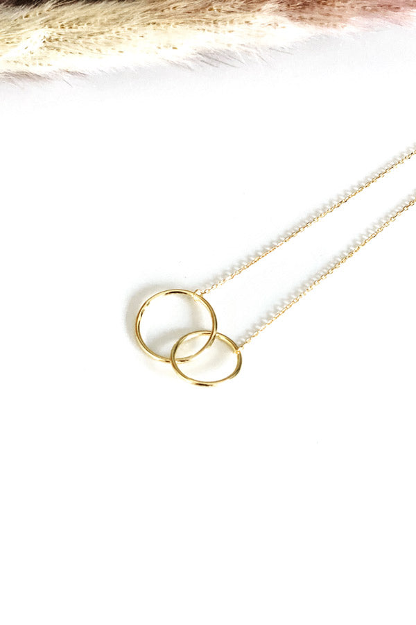 Two-Ring Necklace Gold