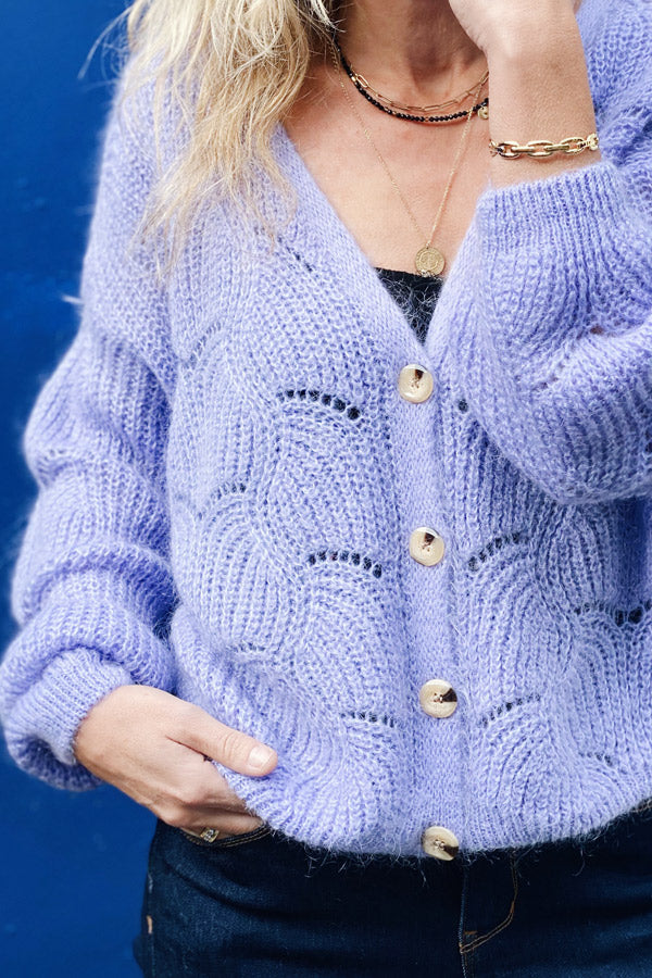 Doutzen Cardigan Purple