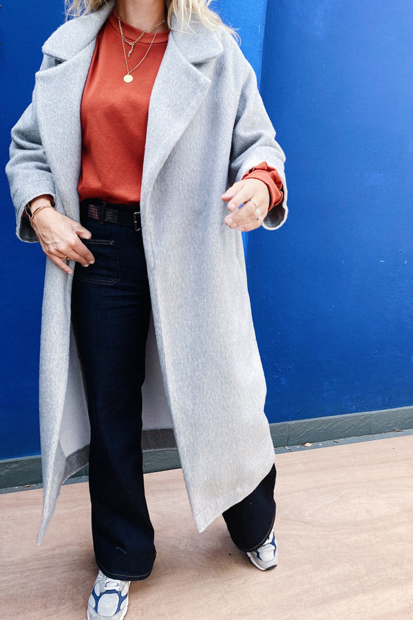 NM04 Coat Light Grey