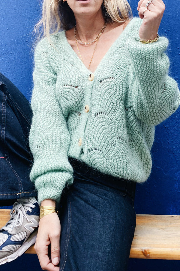 Doutzen Cardigan Green