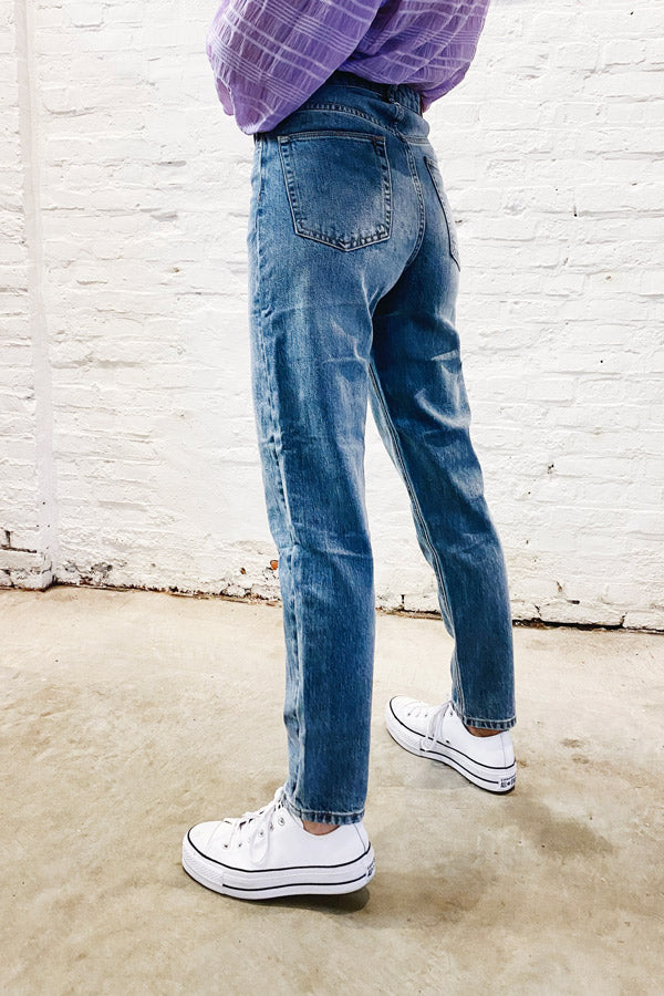 Polly LF18MF Trousers Blue Jeans