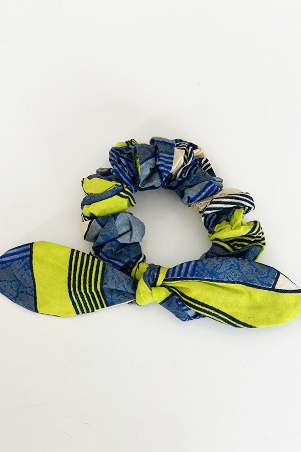 Scrunchy Hairband Multi-Yellow