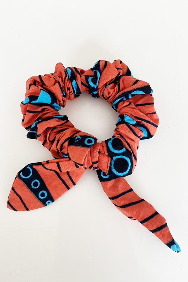 Scrunchy Hairband Multi-Orange