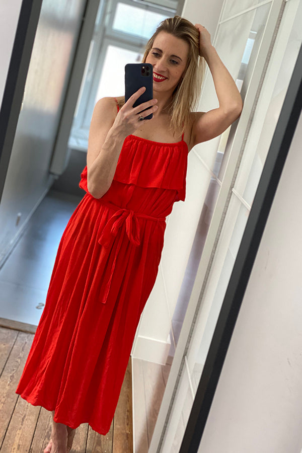 IHMARRAKECH MAXI DRESS RED